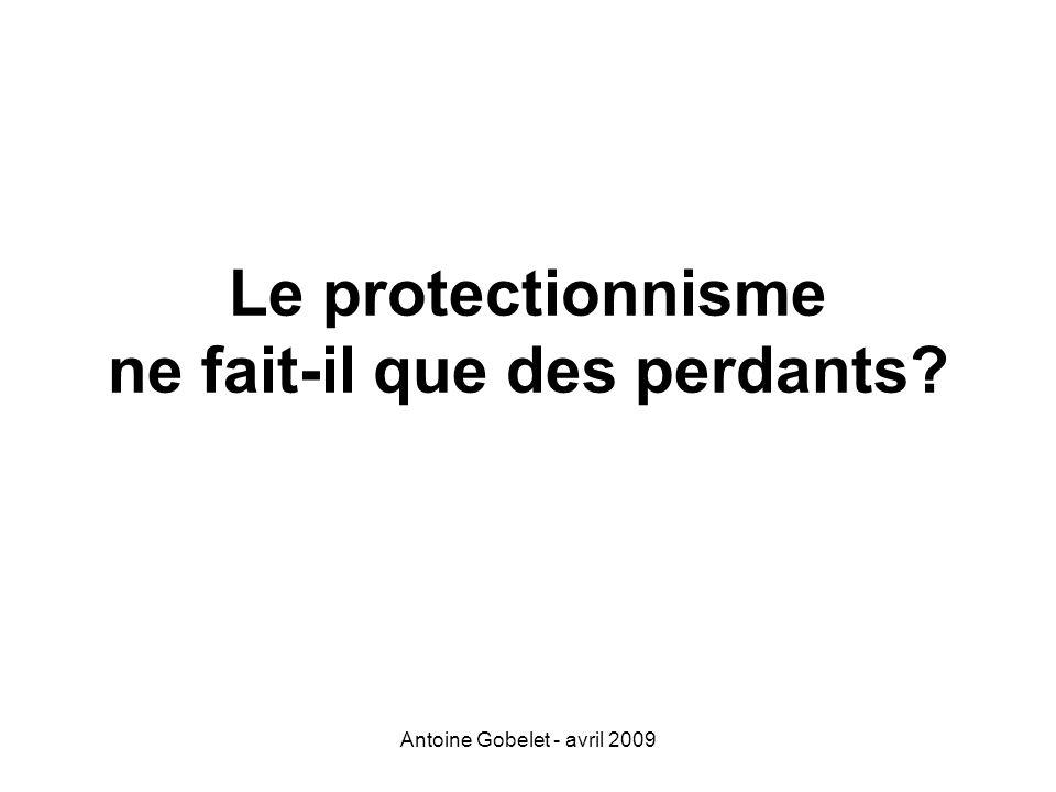 Antoine Gobelet - avril 2009 Le protectionnisme ne fait-il que des perdants?