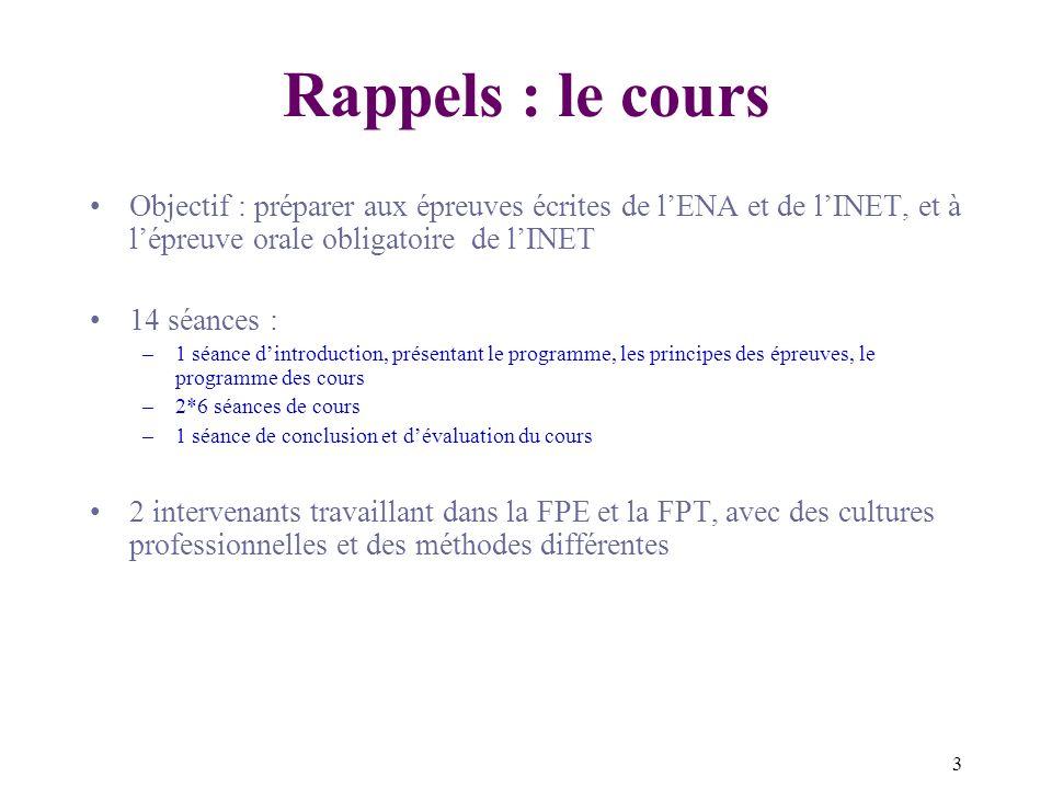 4 Rappels : Le programme INET (oral) « Épreuve orale sur les éléments fondamentaux en matière d organisation informatique, de logiciels de base et de nouvelles technologies de l information » 1.