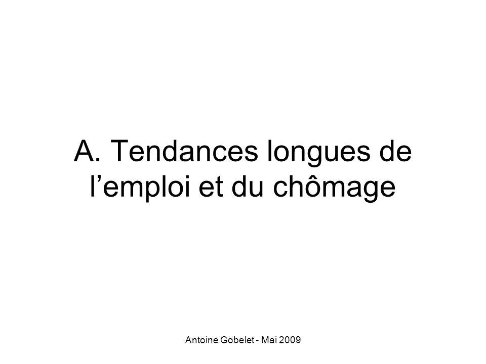 Antoine Gobelet - Mai 2009 A. Tendances longues de lemploi et du chômage