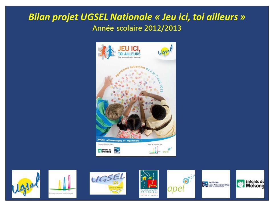 Bilan projet UGSEL Nationale « Jeu ici, toi ailleurs » Année scolaire 2012/2013