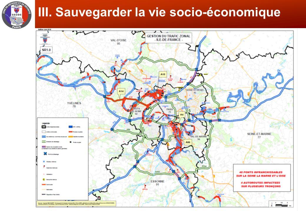 SGZDS- Service Protection des populations, GT Déchets, le 19/06/2012 III. Sauvegarder la vie socio-économique