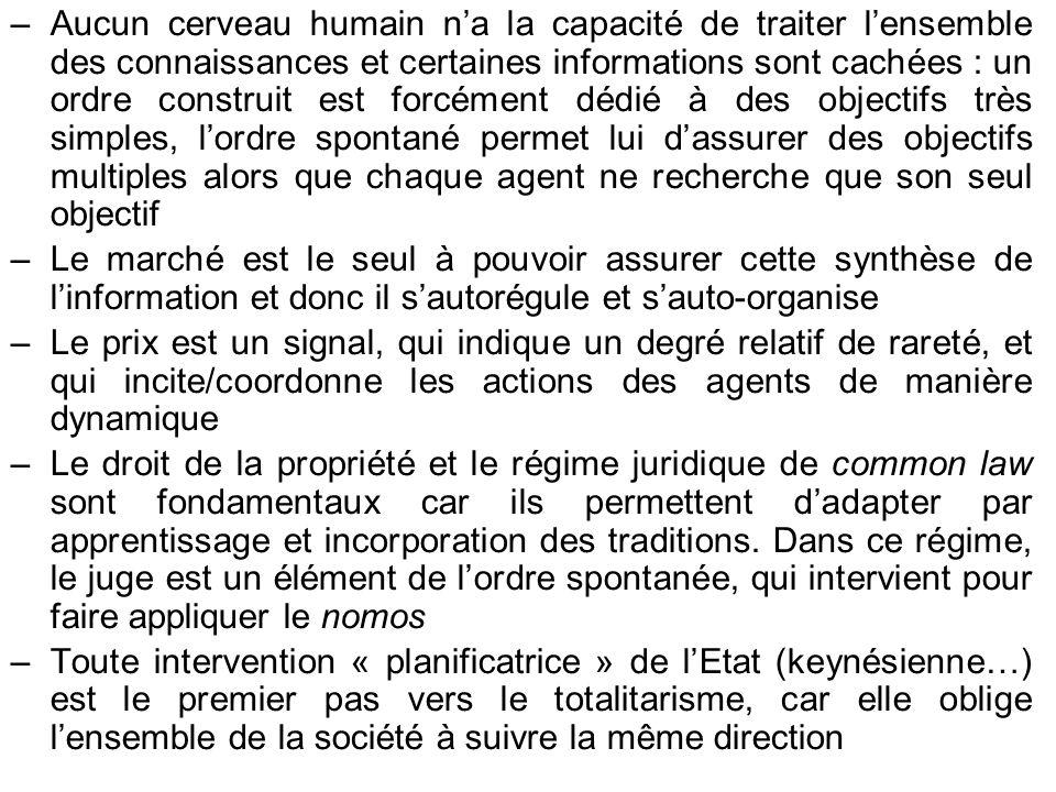 –Aucun cerveau humain na la capacité de traiter lensemble des connaissances et certaines informations sont cachées : un ordre construit est forcément
