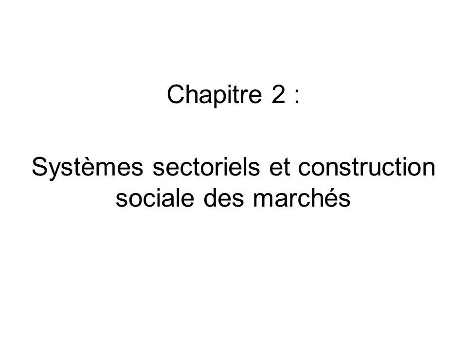 Chapitre 2 : Systèmes sectoriels et construction sociale des marchés