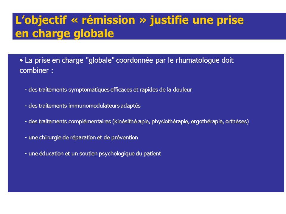 Lobjectif « rémission » justifie une prise en charge globale La prise en charge