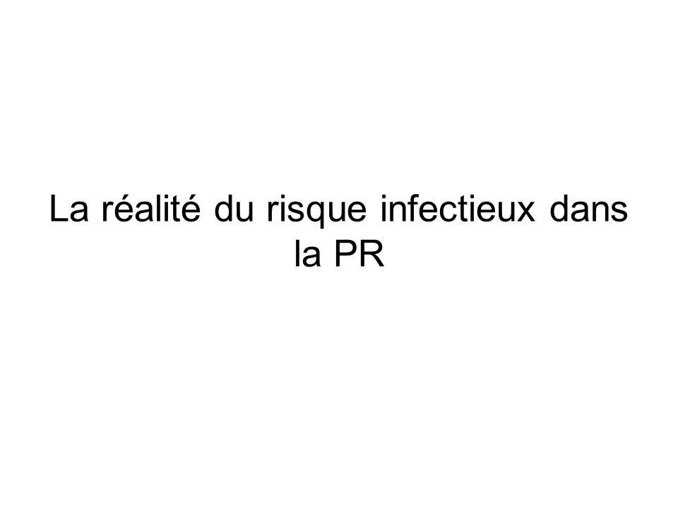 La réalité du risque infectieux dans la PR