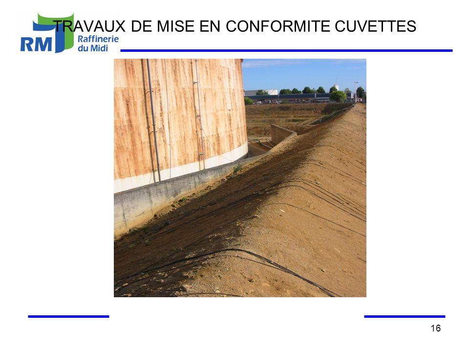 TRAVAUX DE MISE EN CONFORMITE CUVETTES 16
