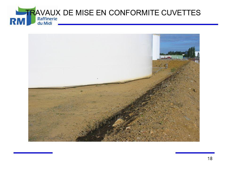 TRAVAUX DE MISE EN CONFORMITE CUVETTES 18