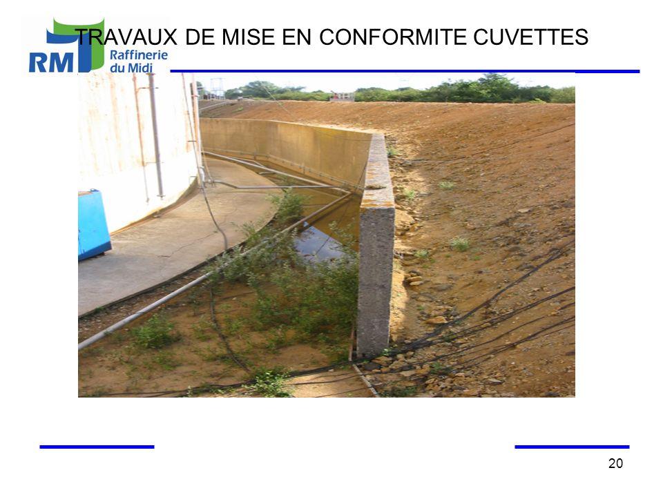 TRAVAUX DE MISE EN CONFORMITE CUVETTES 20