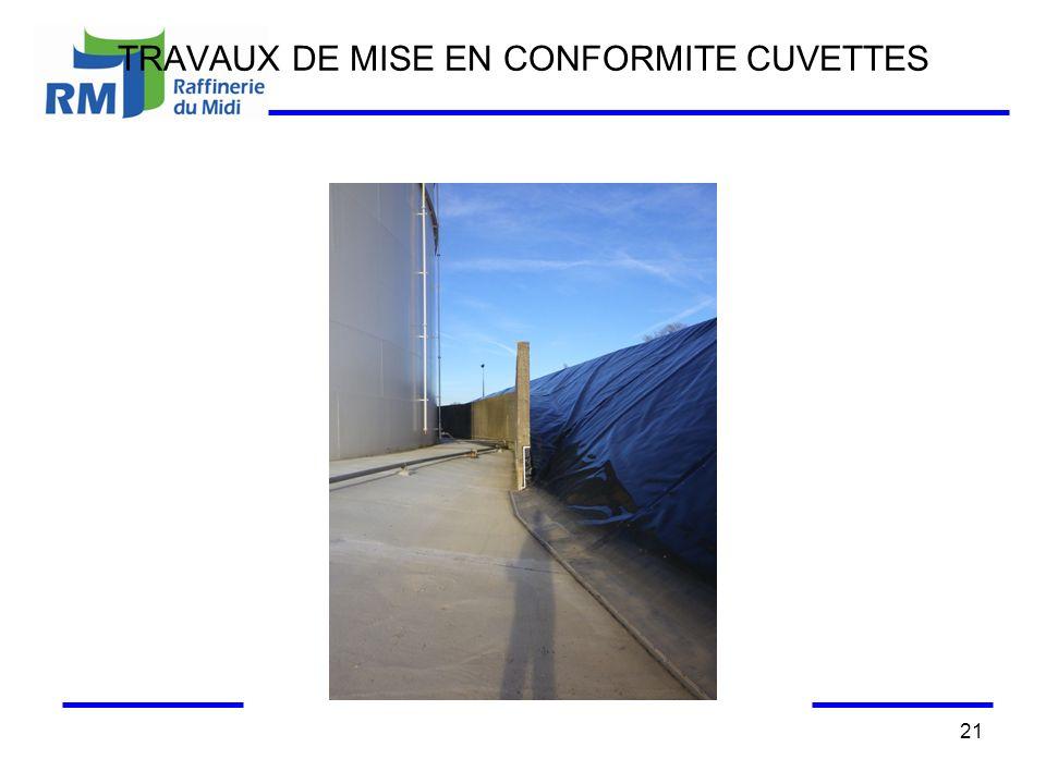 TRAVAUX DE MISE EN CONFORMITE CUVETTES 21