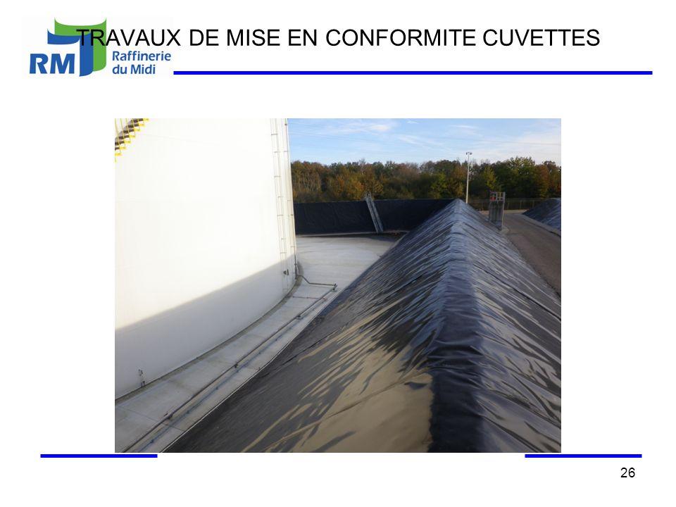 TRAVAUX DE MISE EN CONFORMITE CUVETTES 26