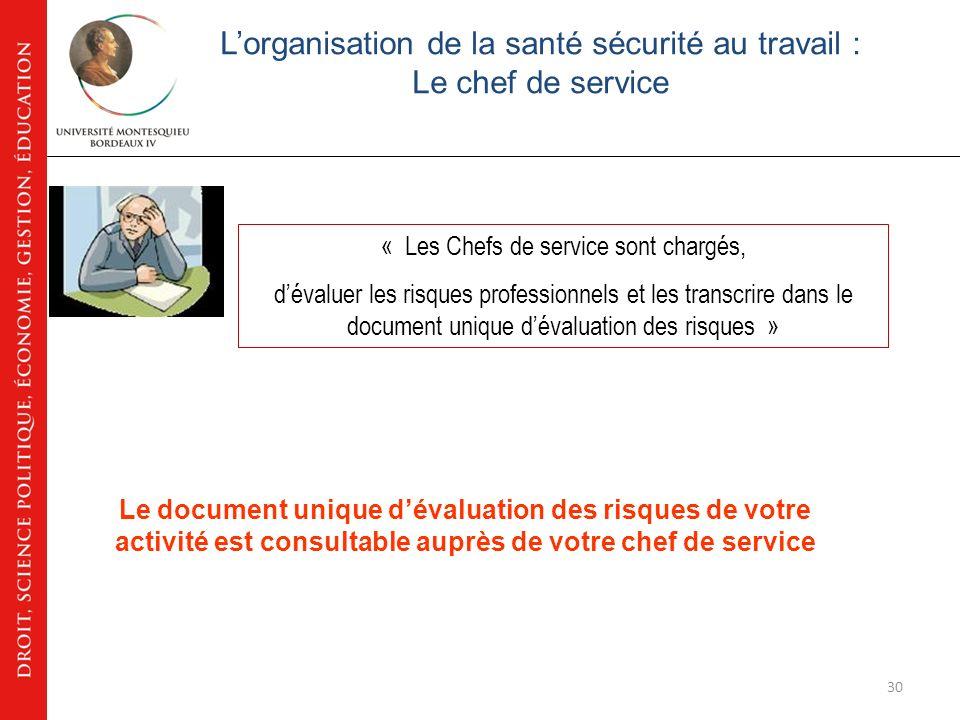 Accueil sécurité Université – Montesquieu Bordeaux IV Objectif: Les personnes ressources en matière de sécurité