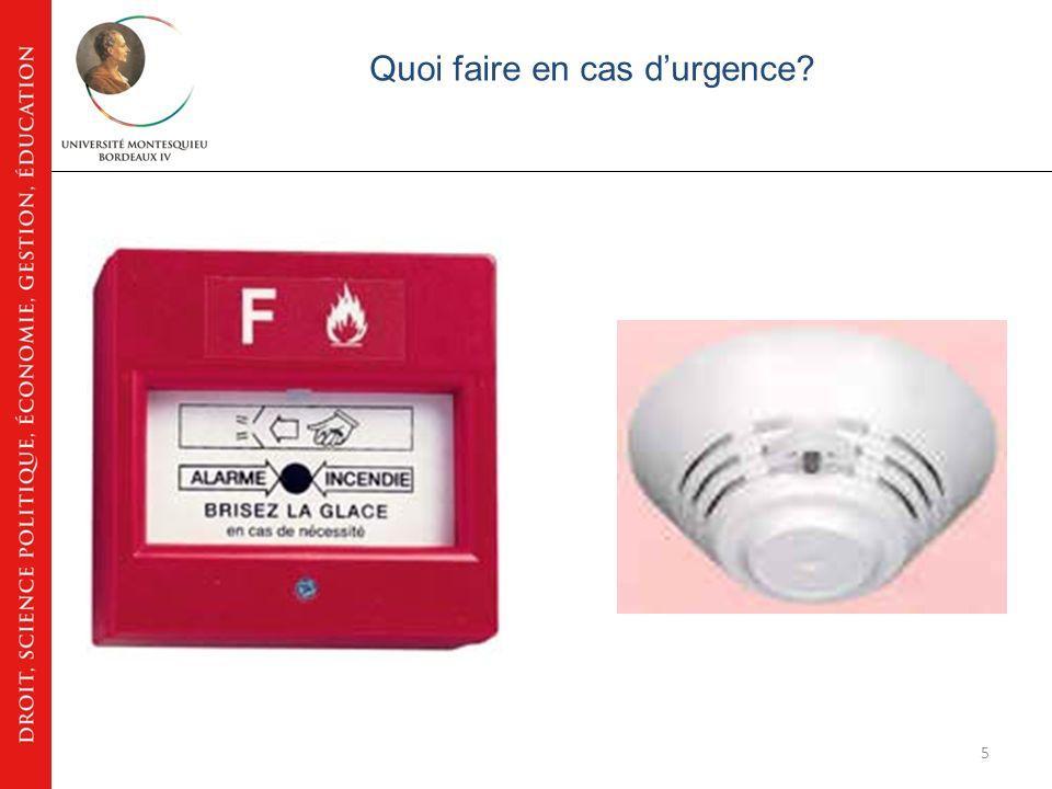 35 Lorganisation de la santé sécurité au travail Les interlocuteurs hygiène sécurité à lUniversité Montesquieu – Bordeaux IV M.