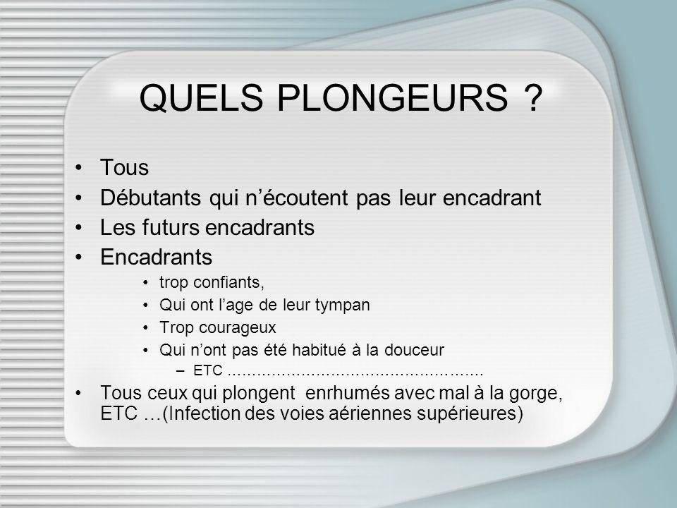 QUELS PLONGEURS .