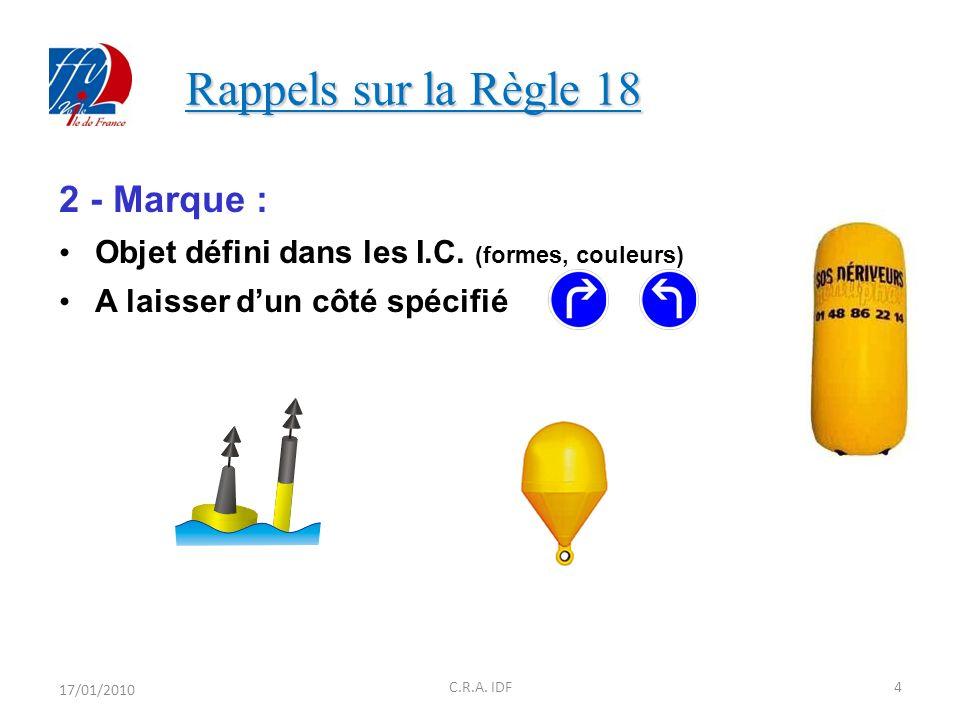 Rappels sur la Règle 18 Rappels sur la Règle 18 17/01/201025C.R.A.