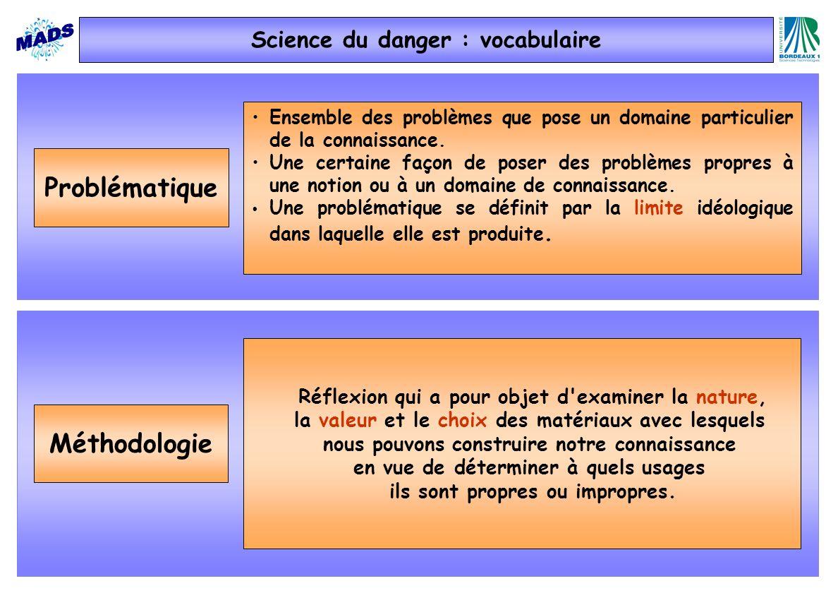 Problématique Méthodologie Ensemble des problèmes que pose un domaine particulier de la connaissance. Une certaine façon de poser des problèmes propre