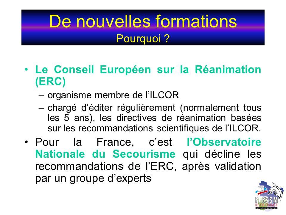 Le Conseil Européen sur la Réanimation (ERC) –organisme membre de lILCOR –chargé déditer régulièrement (normalement tous les 5 ans), les directives de