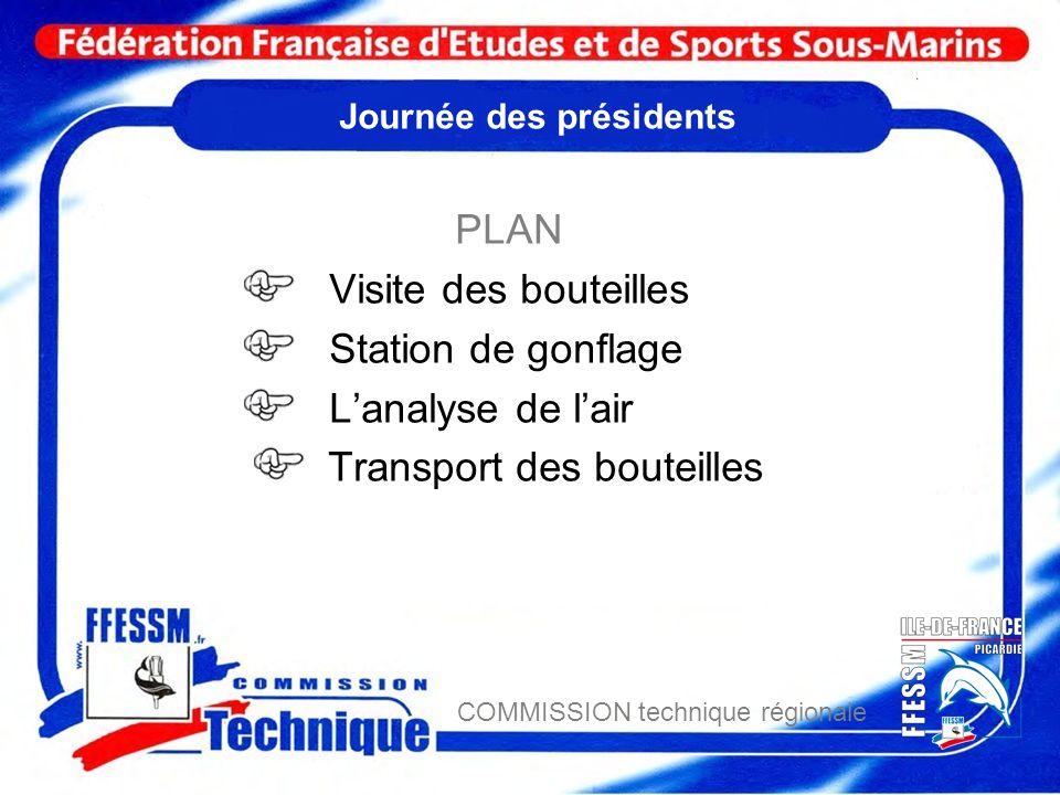 COMMISSION technique régionale Transports des bouteilles La FFESSM 1 - introduction.