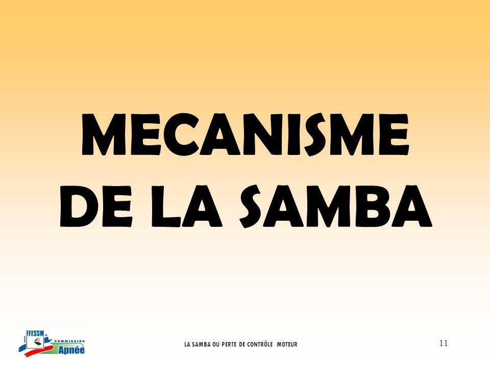 LA SAMBA OU PERTE DE CONTRÔLE MOTEUR 11 MECANISME DE LA SAMBA