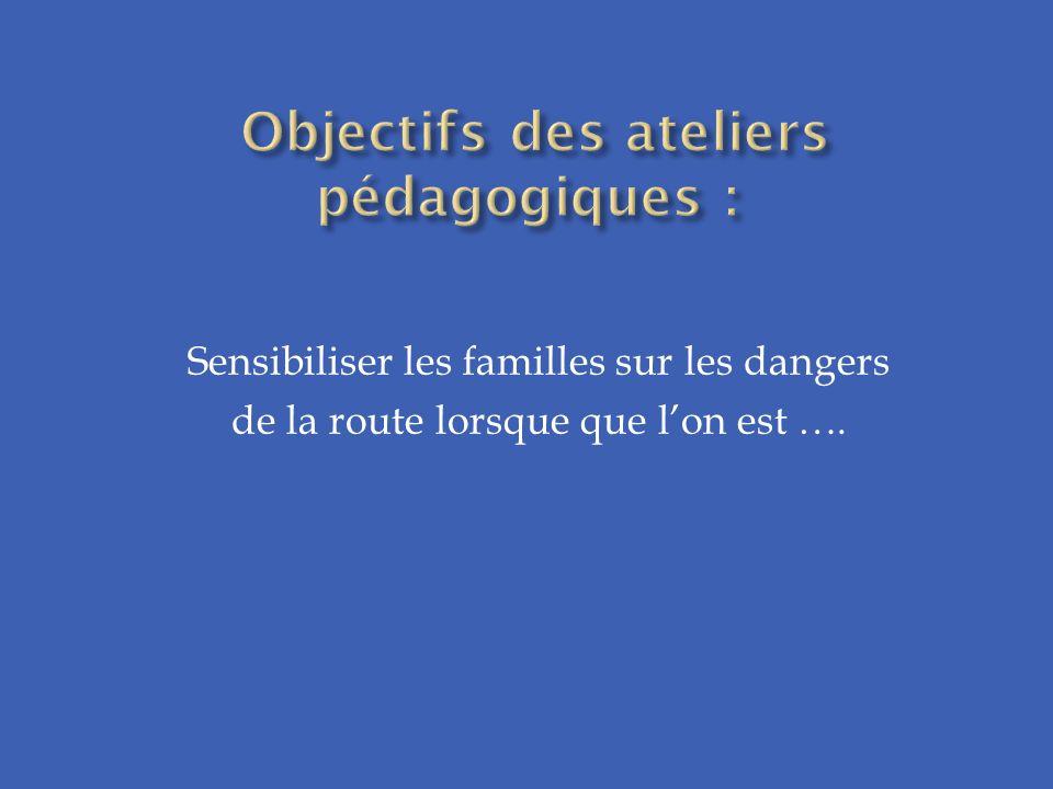 Sensibiliser les familles sur les dangers de la route lorsque que lon est ….