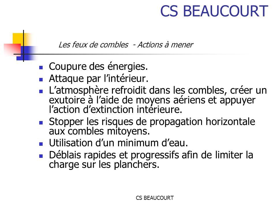 CS BEAUCOURT Coupure des énergies.Attaque par lintérieur.
