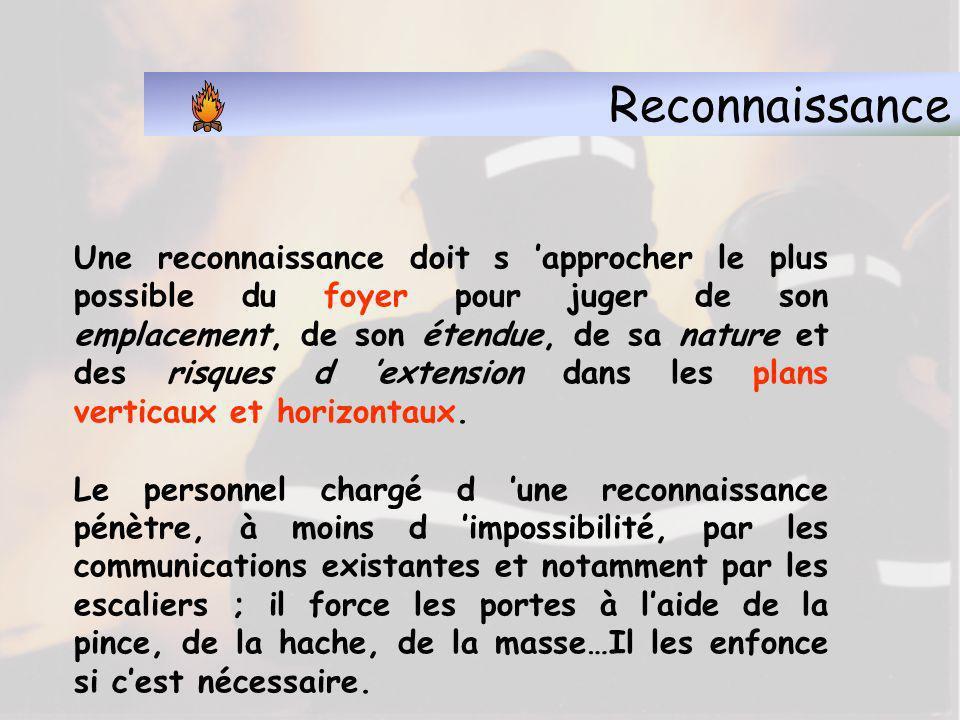 Reconnaissance 2.3 - Différentes phases de la reconnaissance Sauvetages ou mises en sécurité Exploration des endroits sinistrés et abords
