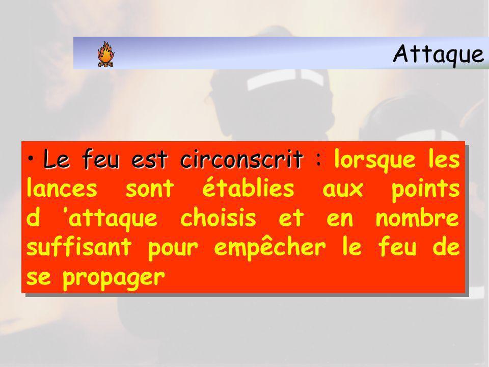 Attaque 5.2 Les opérations d extinction Circonscrire le feu Feu éteint Maître du feu