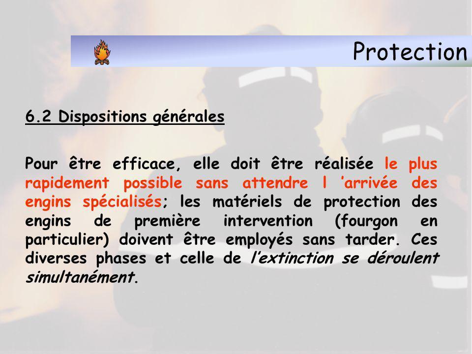 Protection 6.1 - Objet de la protection La protection est :La protection est : destinée à limiter le plus possible les dégâts occasionnés par l eau, l