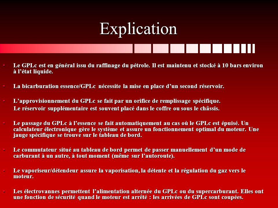 Explication Le GPLc est en général issu du raffinage du pétrole.
