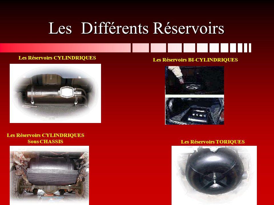 Les Différents Réservoirs Les Réservoirs CYLINDRIQUES Les Réservoirs BI-CYLINDRIQUES Les Réservoirs TORIQUES Les Réservoirs CYLINDRIQUES Sous CHASSIS