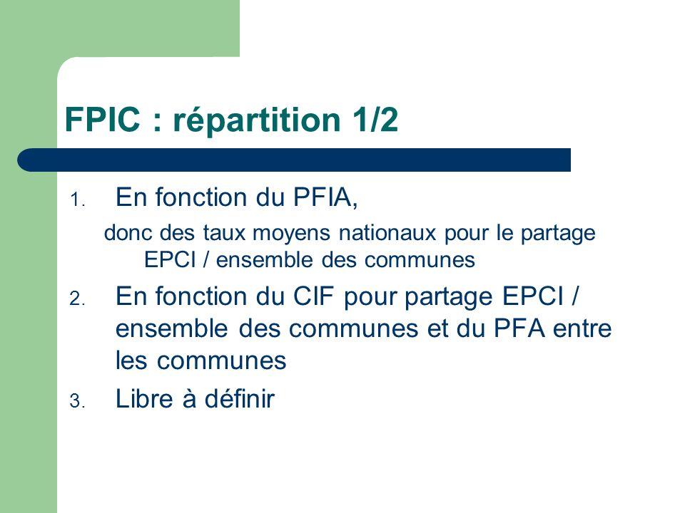 FPIC : Répartition 2/2