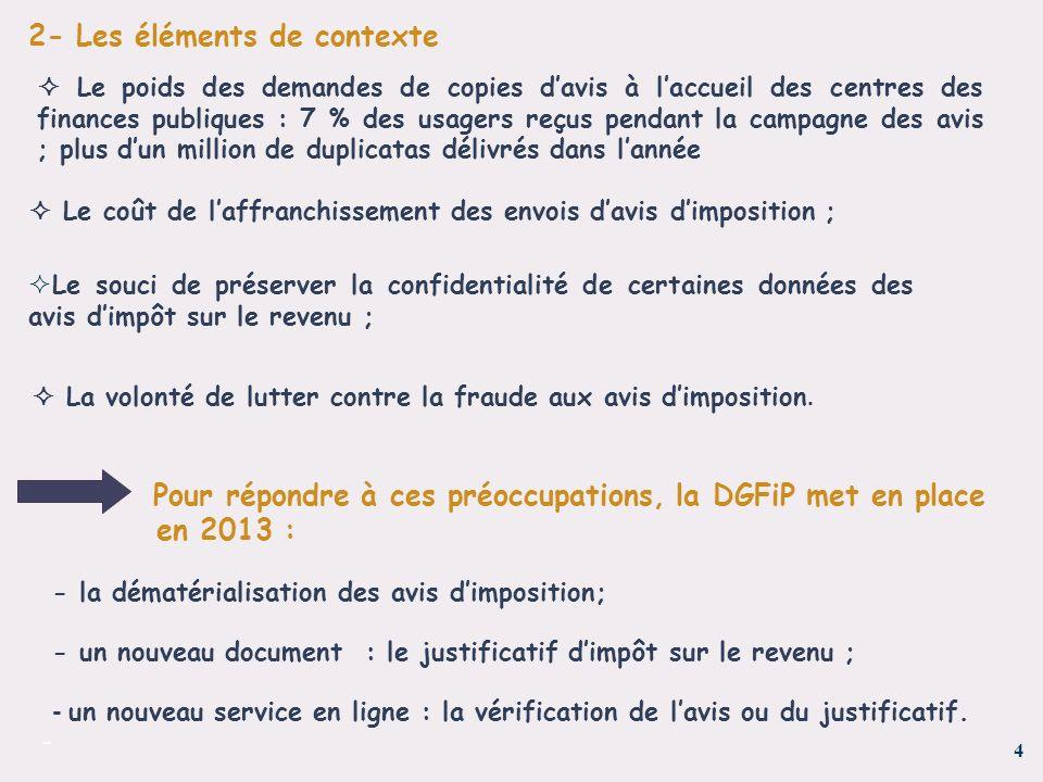 4 - 2- Les éléments de contexte Le poids des demandes de copies davis à laccueil des centres des finances publiques : 7 % des usagers reçus pendant la