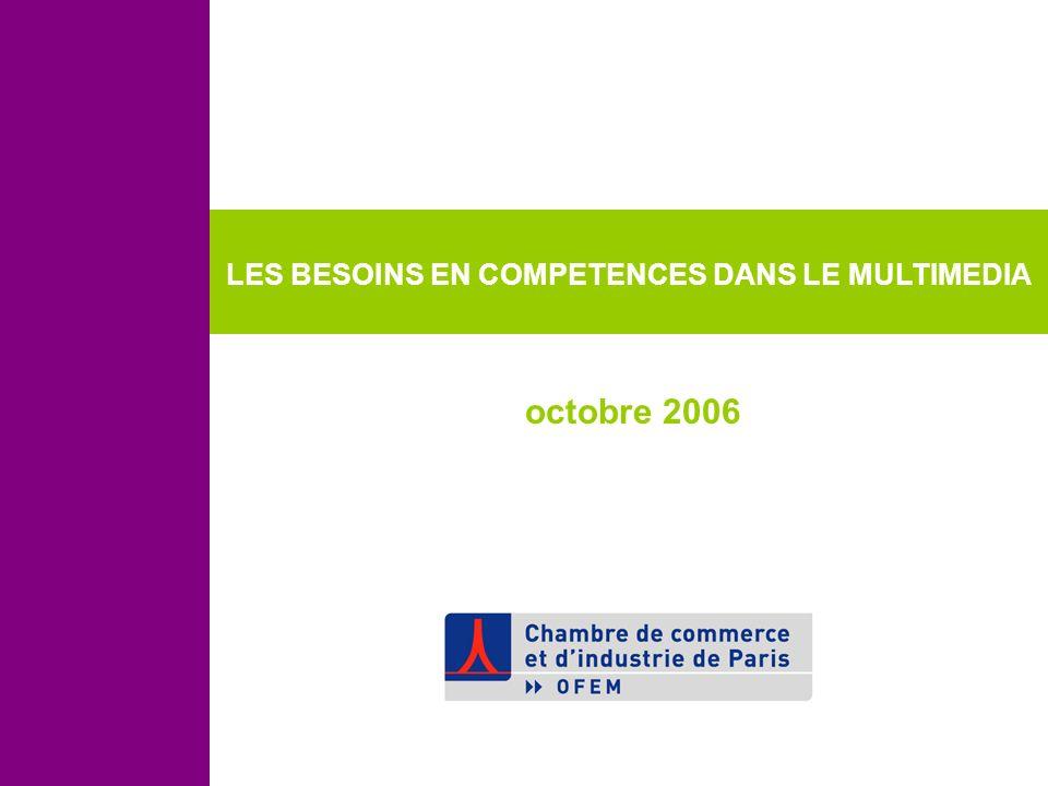 LES BESOINS EN COMPETENCES DANS LE MULTIMEDIA octobre 2006