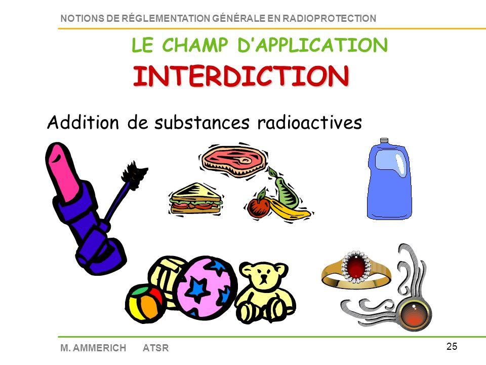 24 NOTIONS DE RÉGLEMENTATION GÉNÉRALE EN RADIOPROTECTION M.