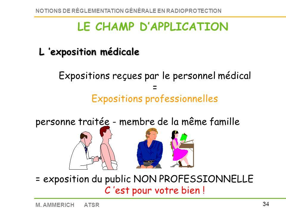33 NOTIONS DE RÉGLEMENTATION GÉNÉRALE EN RADIOPROTECTION M. AMMERICH ATSR EXPOSITION AU RADON