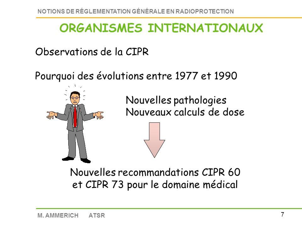 6 NOTIONS DE RÉGLEMENTATION GÉNÉRALE EN RADIOPROTECTION M.