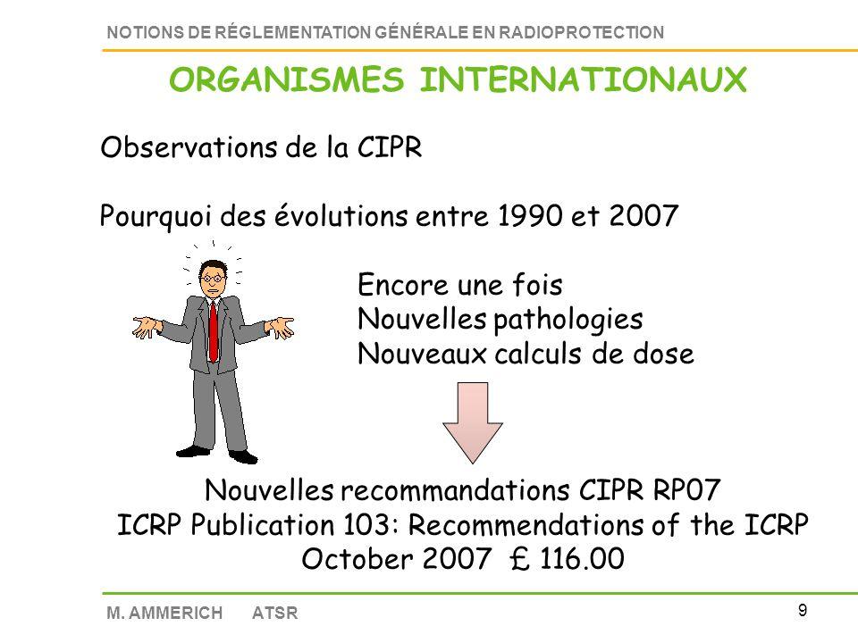 8 NOTIONS DE RÉGLEMENTATION GÉNÉRALE EN RADIOPROTECTION M.