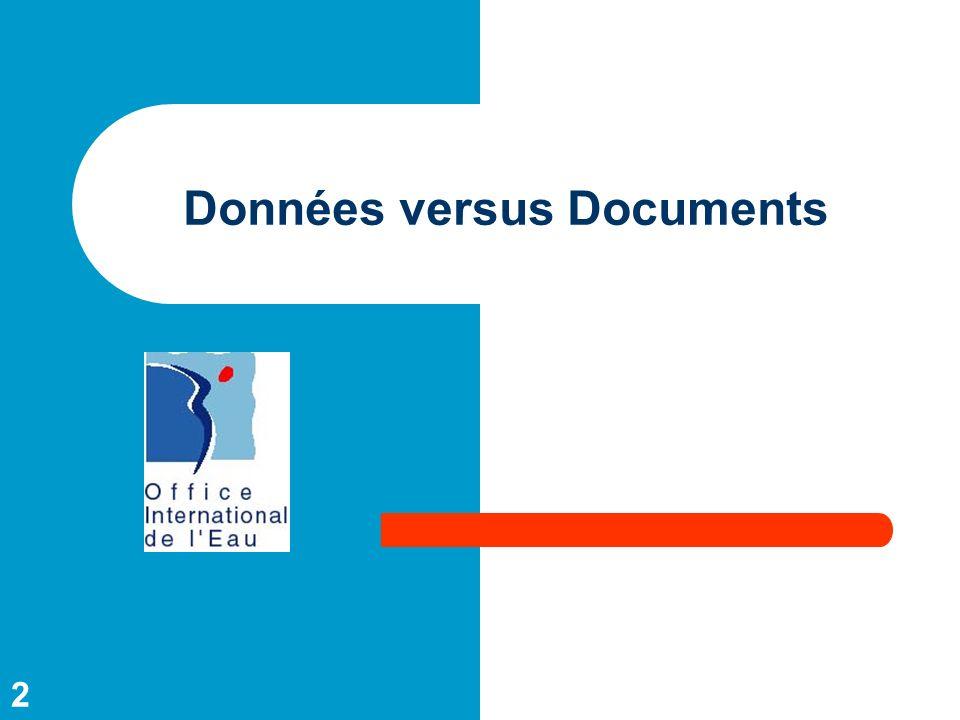 2 Données versus Documents