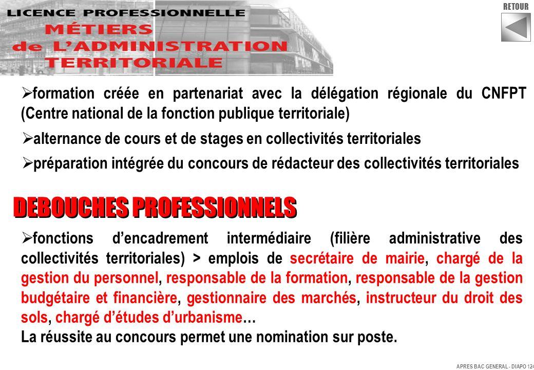 alternance de cours et de stages en collectivités territoriales préparation intégrée du concours de rédacteur des collectivités territoriales DEBOUCHE