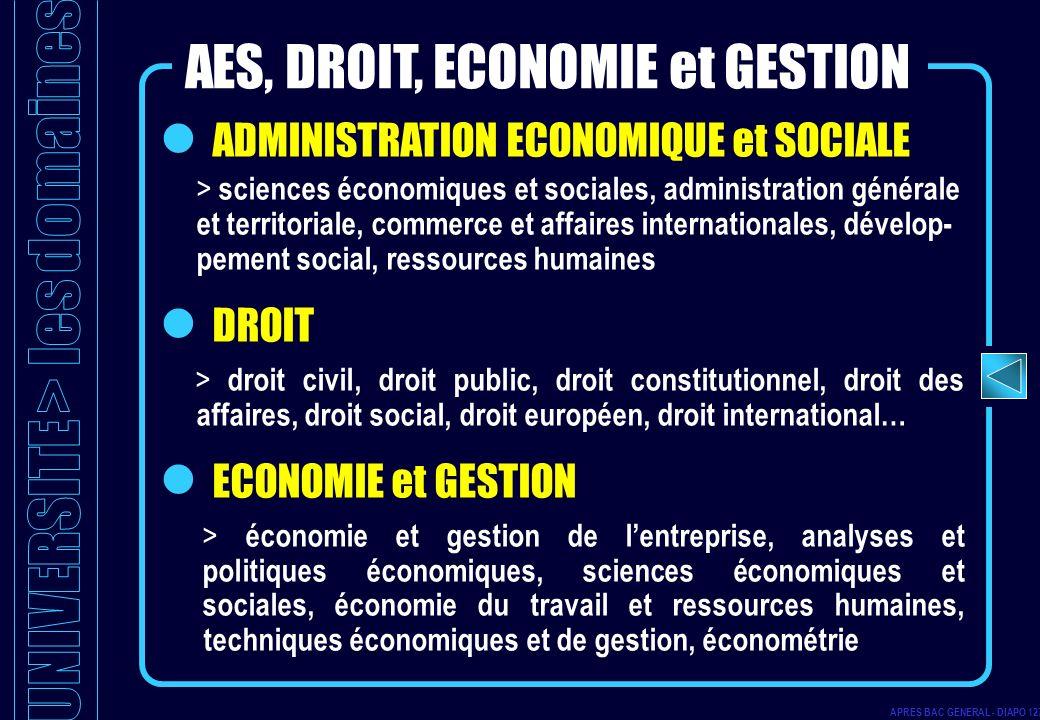 ADMINISTRATION ECONOMIQUE et SOCIALE > sciences économiques et sociales, administration générale et territoriale, commerce et affaires internationales
