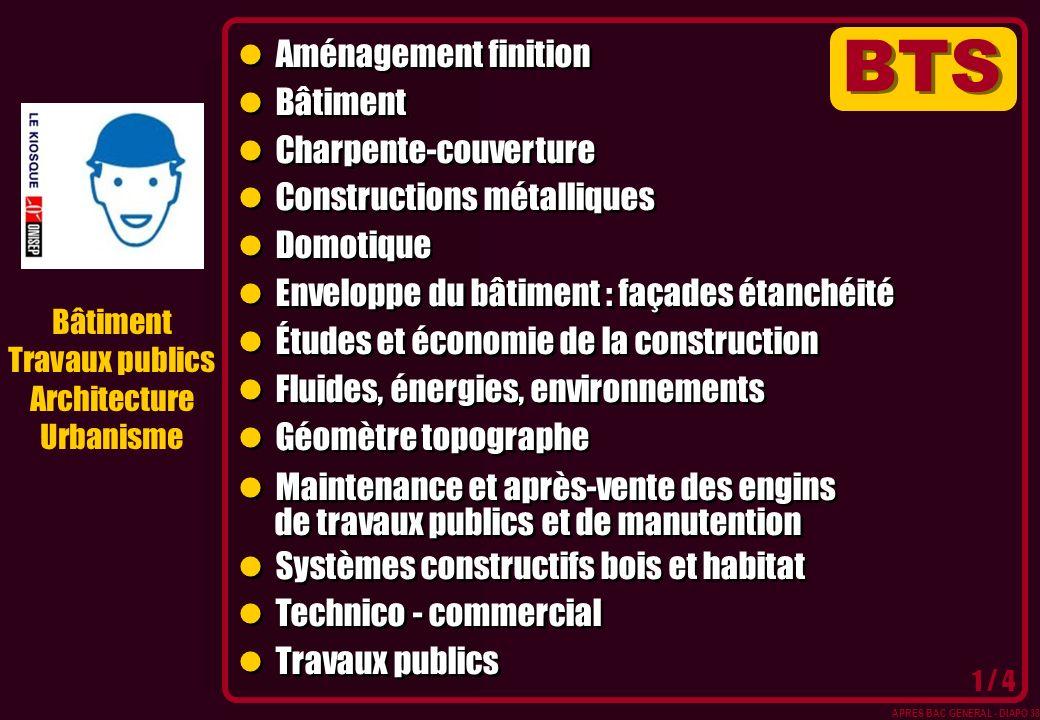 Bâtiment Travaux publics Architecture Urbanisme Aménagement finition Bâtiment Charpente-couverture Constructions métalliques Domotique Enveloppe du bâ