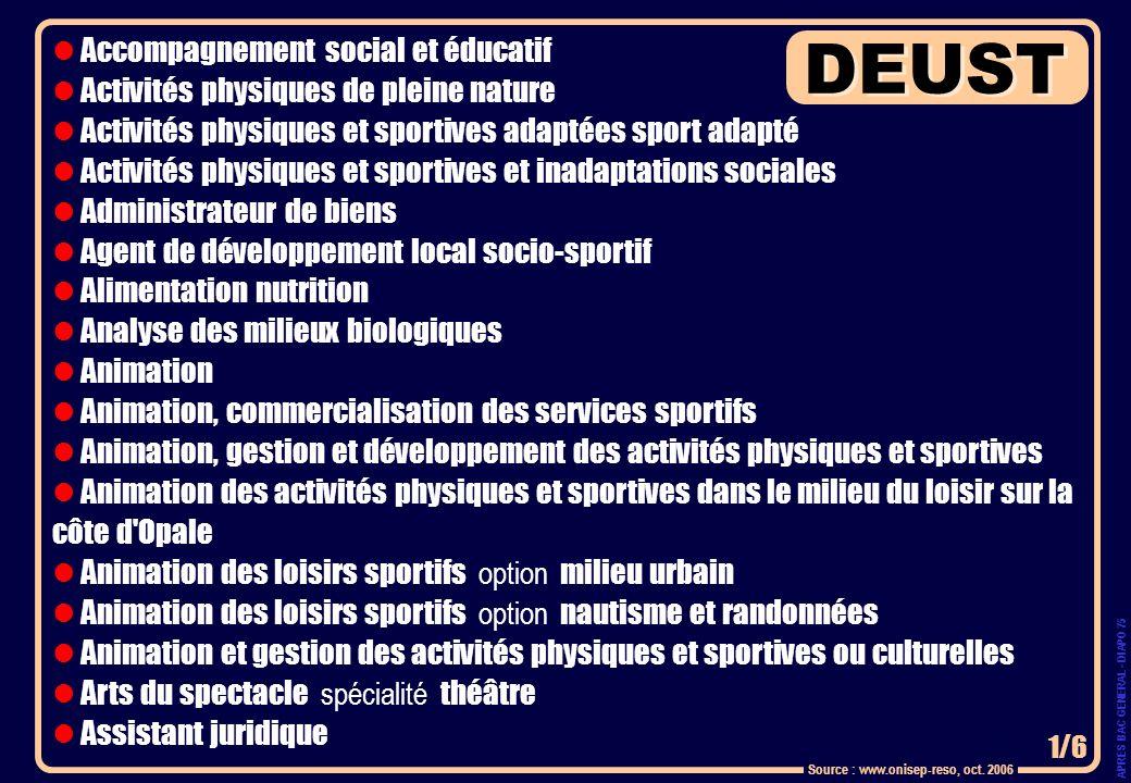 Accompagnement social et éducatif Activités physiques de pleine nature Activités physiques et sportives adaptées sport adapté Activités physiques et s