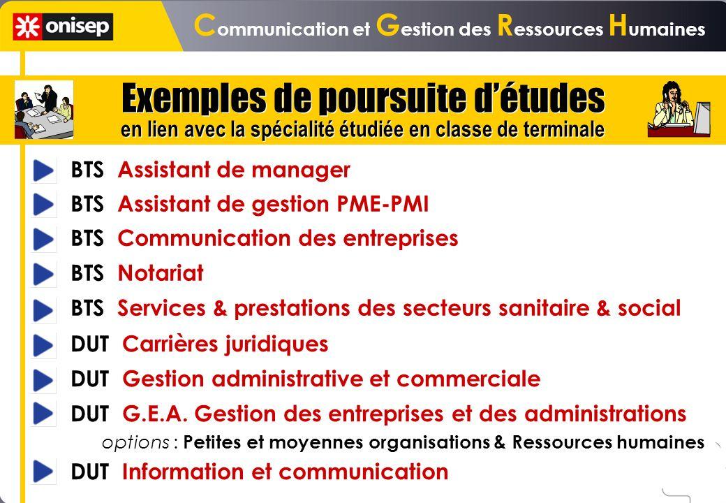 BTS Assistant de manager BTS Assistant de gestion PME-PMI BTS Communication des entreprises BTS Notariat BTS Services & prestations des secteurs sanit