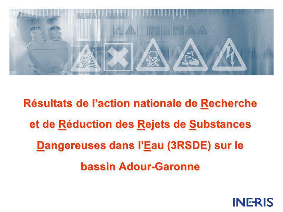 Résultats de laction nationale de Recherche et de Réduction des Rejets de Substances Dangereuses dans lEau (3RSDE) sur le bassin Adour-Garonne