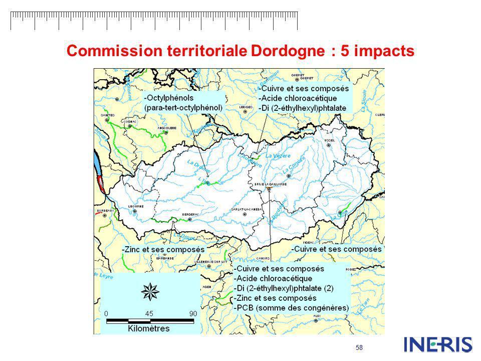 58 Commission territoriale Dordogne : 5 impacts