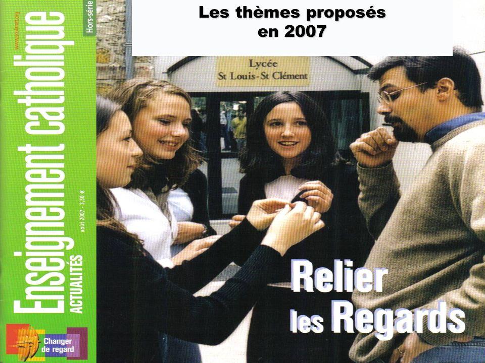 Les thèmes proposés en 2007