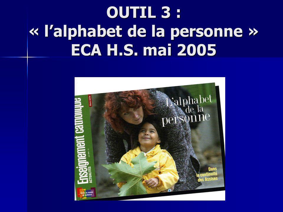 OUTIL 3 : « lalphabet de la personne » ECA H.S. mai 2005