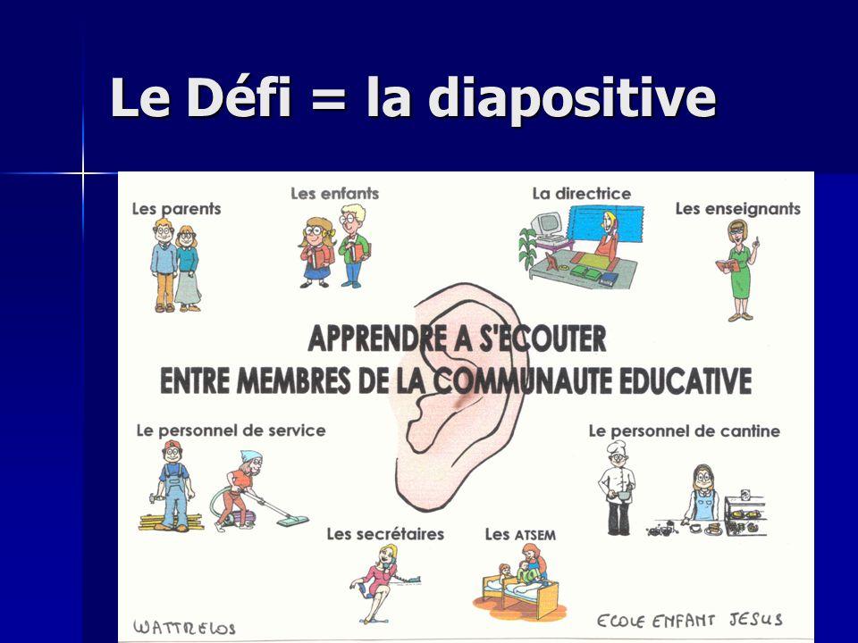 Le Défi = la diapositive