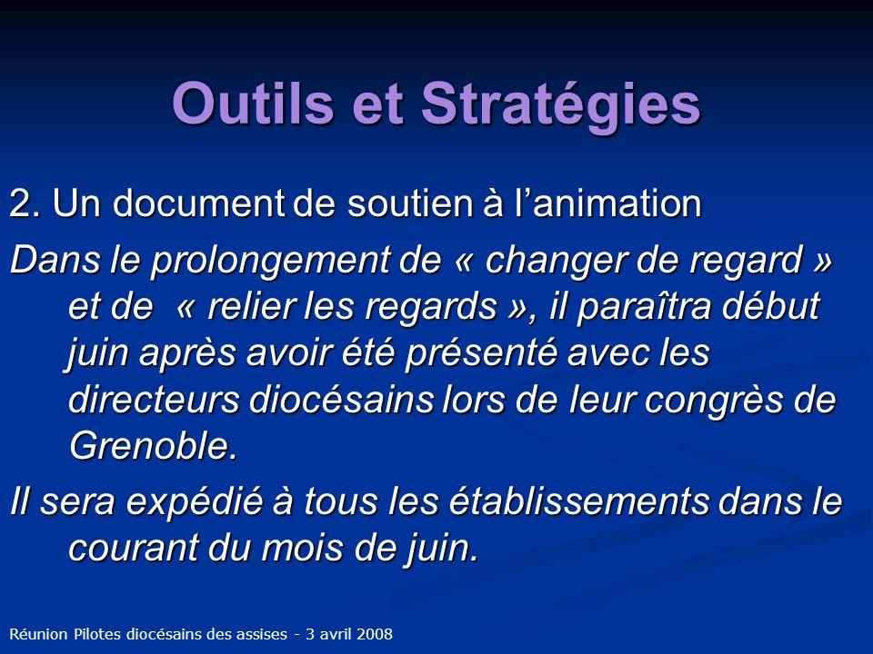 Outils et Stratégies 2. Un document de soutien à lanimation Dans le prolongement de « changer de regard » et de « relier les regards », il paraîtra dé