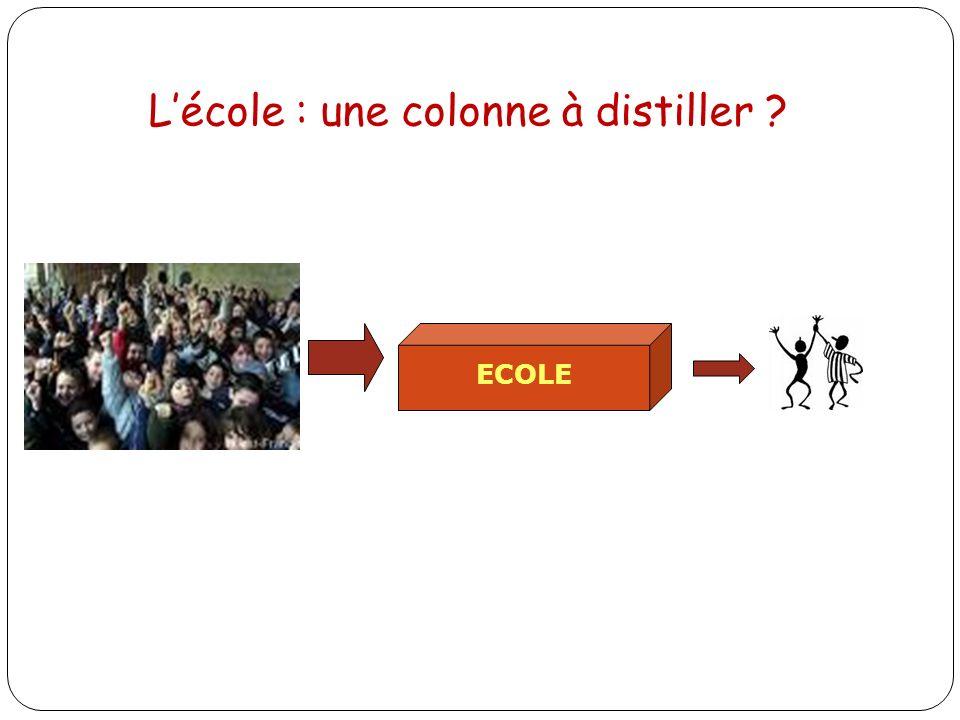 ECOLE Lécole : une colonne à distiller