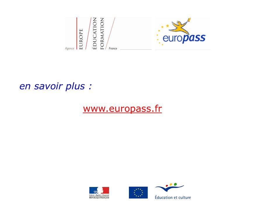 en savoir plus : www.europass.fr